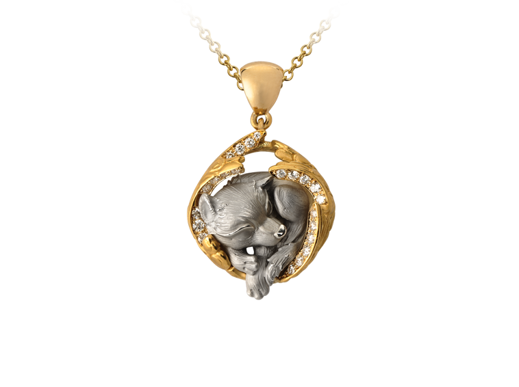 Magerit Dreams Collection Necklace Dream Wolf