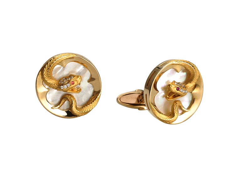 Magerit Man Collection Cufflinks Snake