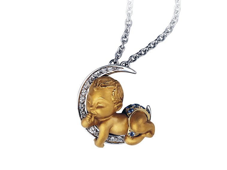 Magerit my baby collection necklace baby boy for Baby jewelry near me