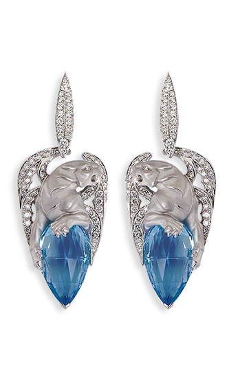 Magerit Vitral Collection Earrings Gargola Tear