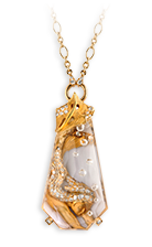 Magerit atlantis necklace_sirena_burbuja