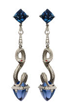 Magerit mythology earrings_snake_long