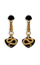 Magerit mythology earrings_snake_long_onyx