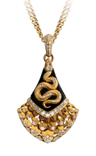 Magerit mythology necklace_snake_abanico