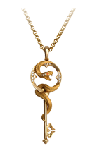 Magerit mythology necklace_snake_key_big