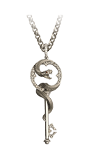 Magerit mythology necklace_snake_key_small